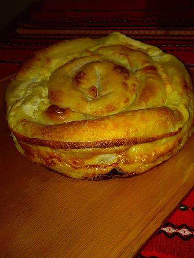 Вита баница - болгарский пирог с начинкой из брынзы. Пошаговый рецепт и фото