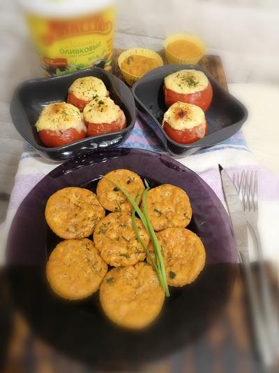 Фаршированные помидорки с куриными кексами - пошаговый рецепт приготовления с фото