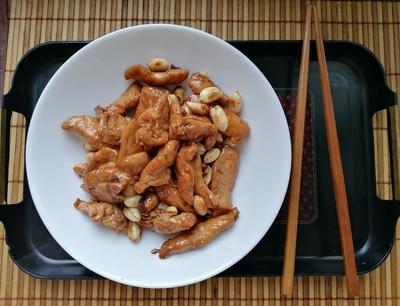 Курочка с арахисом; Кунг Пао; (китайская кухня). Пошаговый рецепт с фото