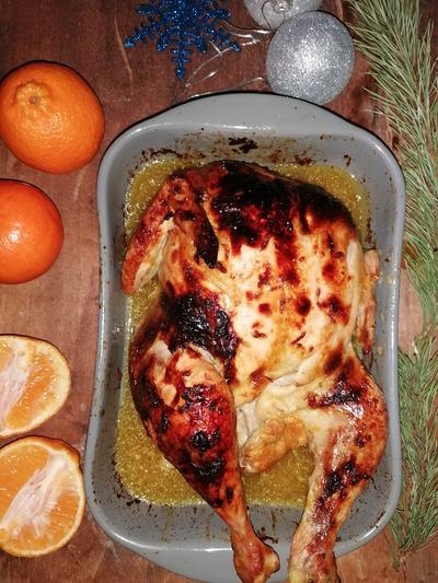 Курица в мандариновом соке в духовке. Пошаговый рецепт с фото