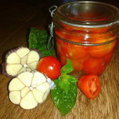 Жареные помидоры с чесноком на зиму. Пошаговый рецепт приготовления с фото