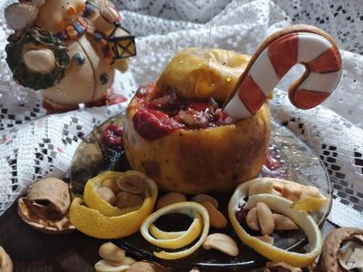 Рождественские печеные яблоки. Пошаговый рецепт с фото