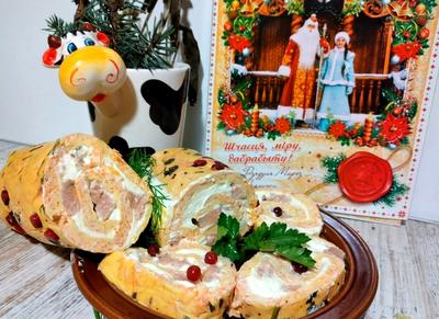 Рулет с красной рыбой и творожным сыром. Рецепт приготовления с пошаговыми фотографиями