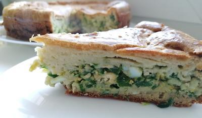 Заливной пирог с яйцом и зеленым луком. Пошаговый рецепт с фото
