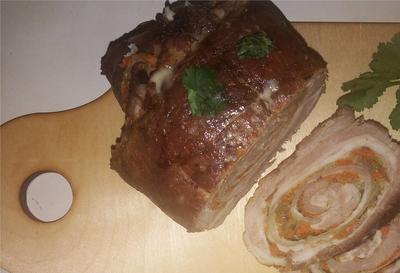 Мясной рулет «Экономный» - пошаговый рецепт приготовления с фото