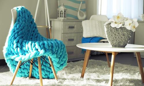Вязаные вещи в интерьере. Идеи для создания уюта в доме. Фото
