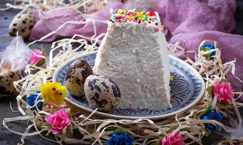 Творожная Пасха карамельная без выпечки