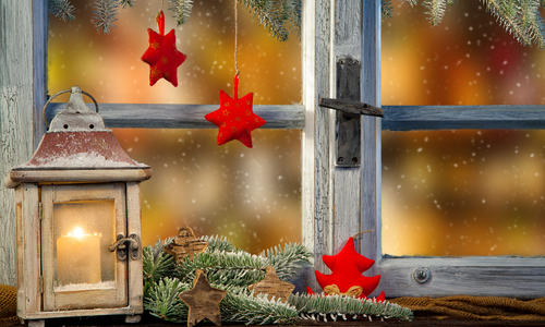 8b4946 Украшения на окна к Новому году: 13 идей для праздничного настроения