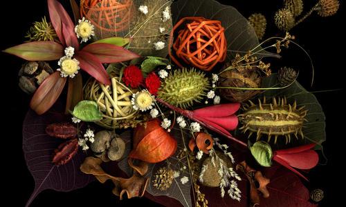 Икебана из сухих цветов своими руками