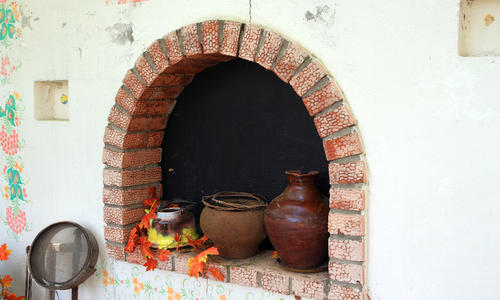 Русская печка декорация