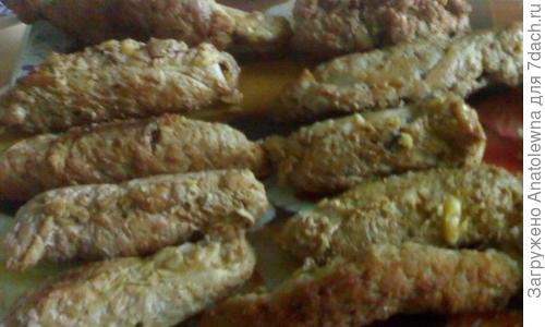 Рецепт пальчиков из свинины с грибами