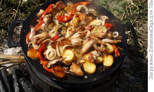 Садж чугунный азербайджанский (для шашлыка)