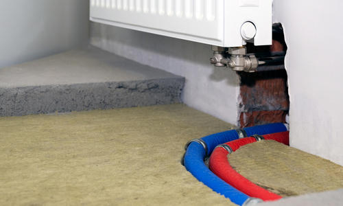Утепление бетонного пола снизу