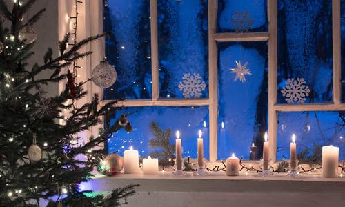 Оформление окна к новому году своими руками
