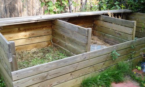 Ящик для компоста из шифера