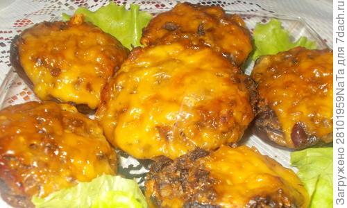 Запеченные  королевские шампиньоны - пошаговый рецепт приготовления с фото