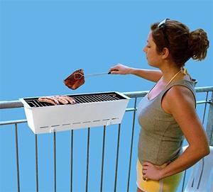 гриль на балконе