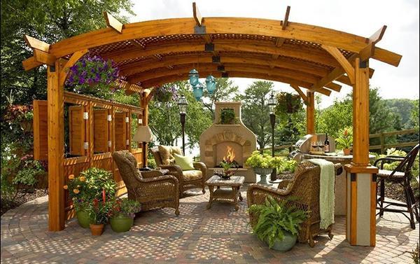 Беседка из дерева для Вашего сада