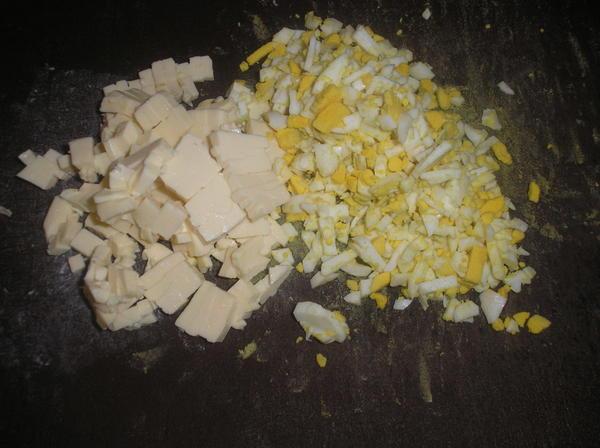 сыр и яйцо