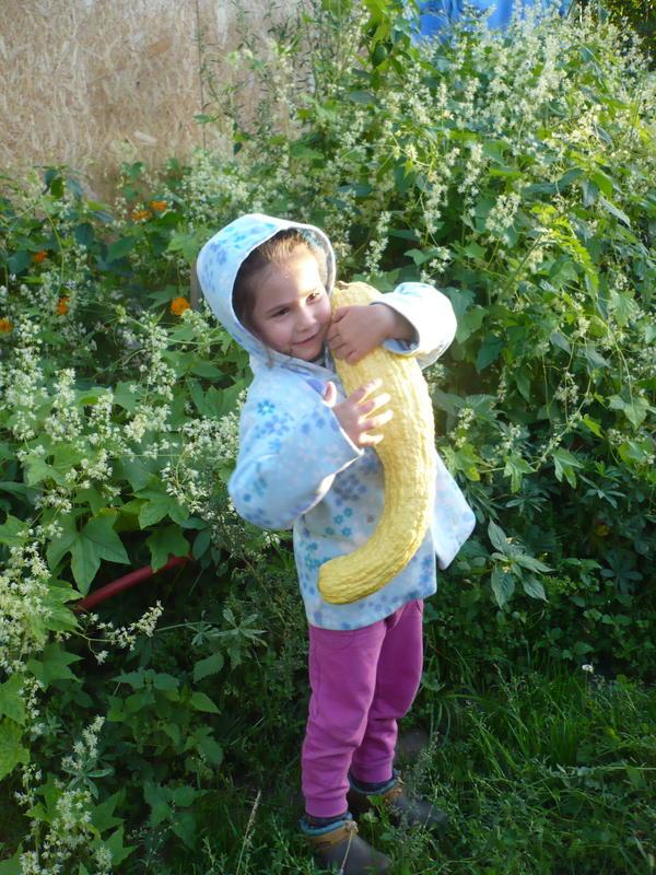 моя внучка Таисия с крукнеком