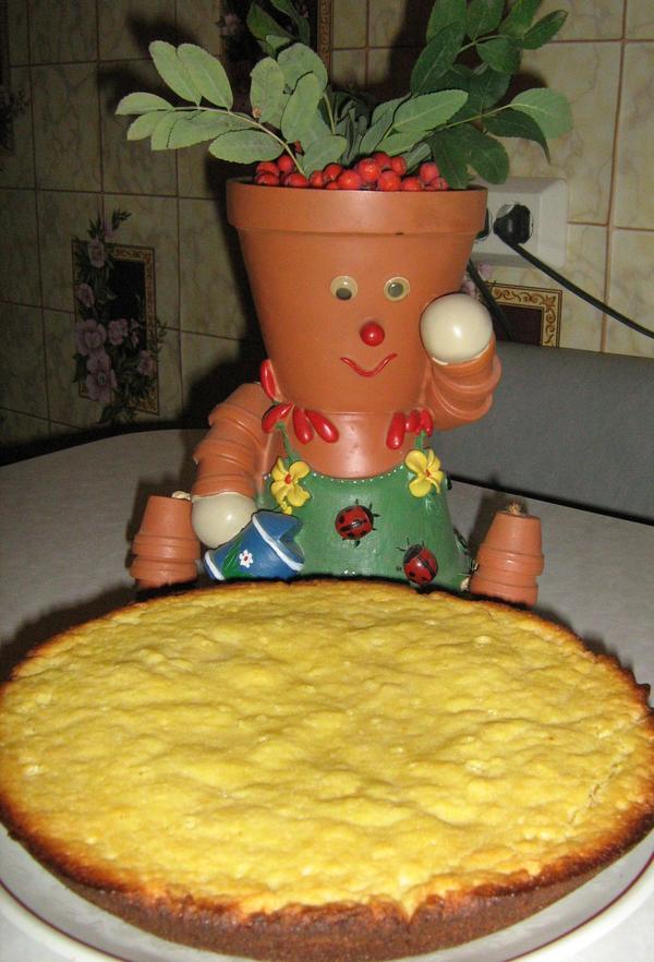 готовый пирог для оформления.
