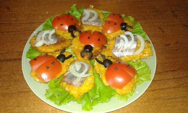 Фото готового блюда! Бутрики получаются нежными, яркими и вкусными!