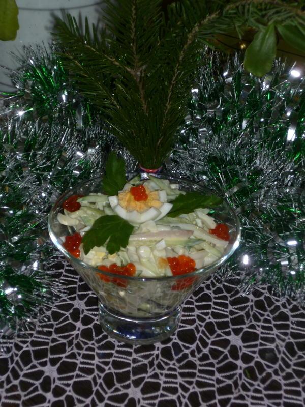салатик заправить майонезом, украсить по своему вкусу. С новым годом вас всех!
