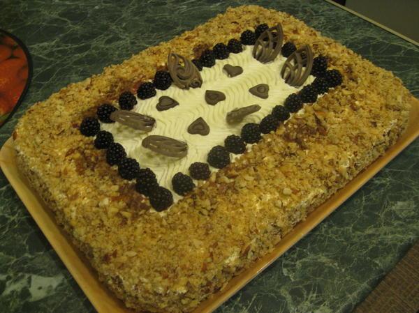 Торт на десерт на Новый год