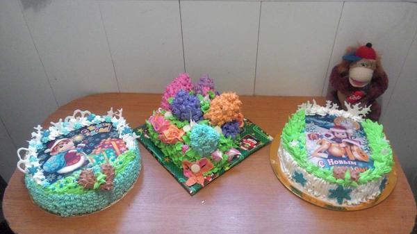 тортики на новый год сынулькам в школу на сладкий стол.