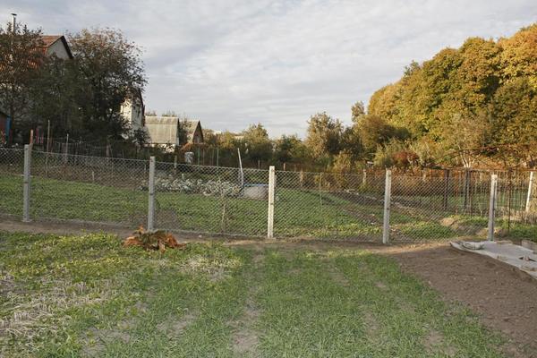 Забор на рельефе