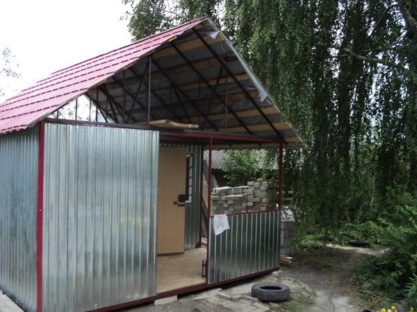 Монтаж веранды и крыши