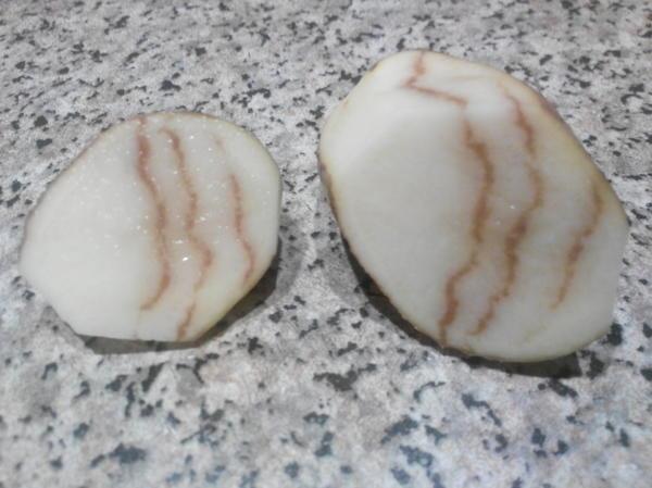 На фотографии Картофель в разрезе.