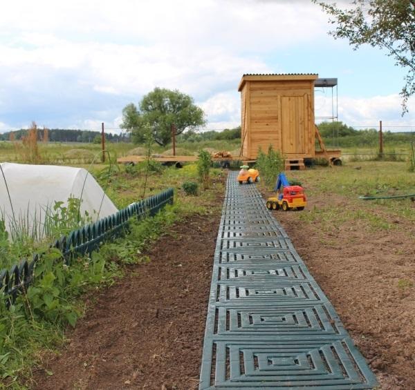 Настил для садовой дорожки или между грядками на огороде