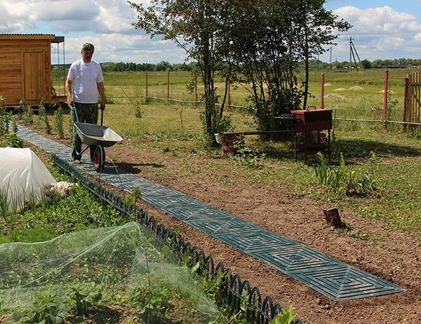 Самый простой вид садовой дорожки серии ПластДор