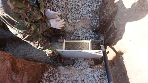 закладка гильз для воды и канализации