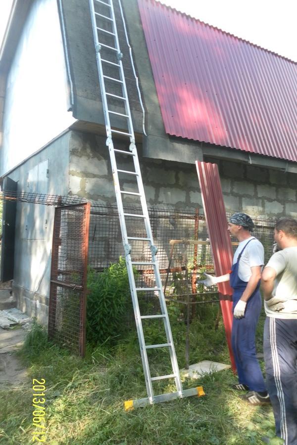 перекрытие крыши профлистом