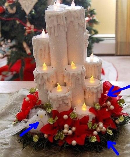 Рождественские свечи из карточных втулок