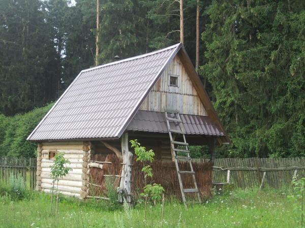 Пример деревенской бани