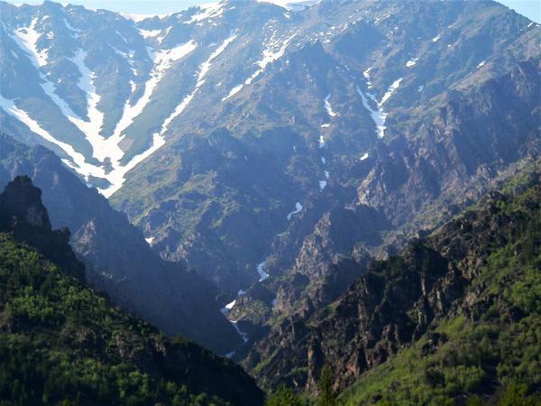 Далекие солнечные вершины горных хребтов Кавказа