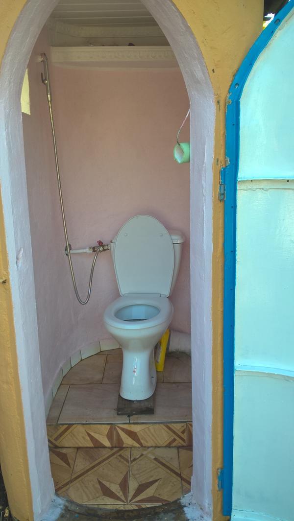 И  наружный  туалет  дачный!