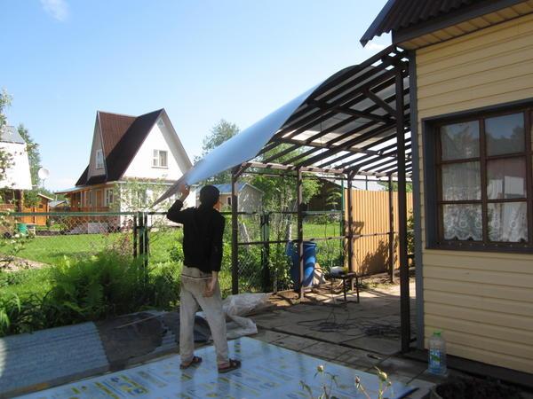 Крыша навеса