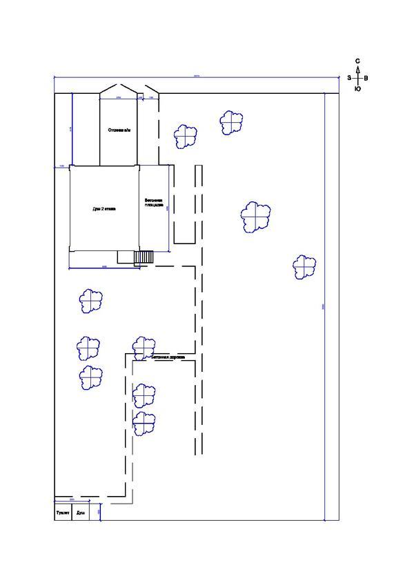 схема строений на дачном участке