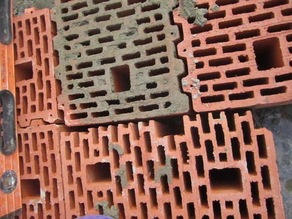 Пример перевязки керамических блоков