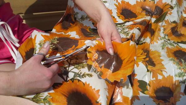 Вырезание цветочков
