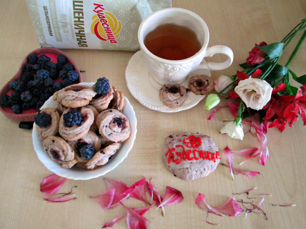 Вкусное, рассыпчатое и нежное домашнее печенье  «Ежевичка»