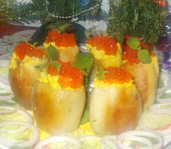Картофельные пенечки с начинкой