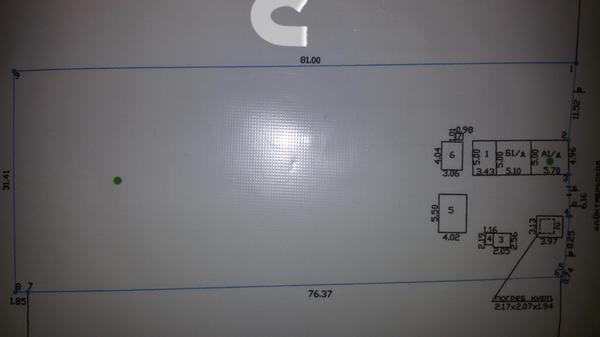 План участка, север указан