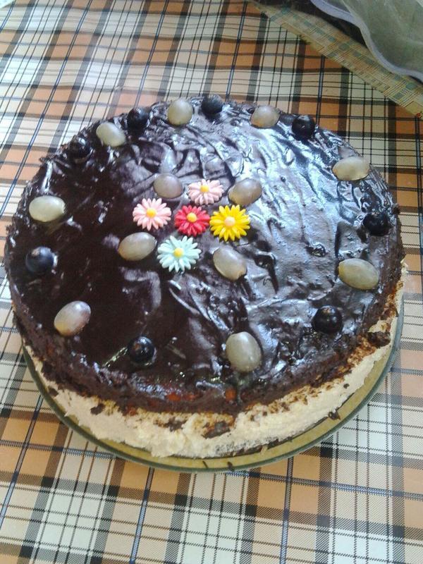 Бисквитный торт с кремом суфле - пошаговый рецепт приготовления с фото