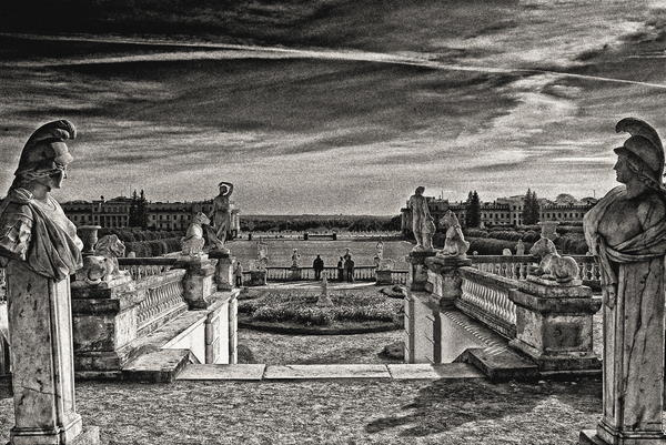 Вид с террасы дворца