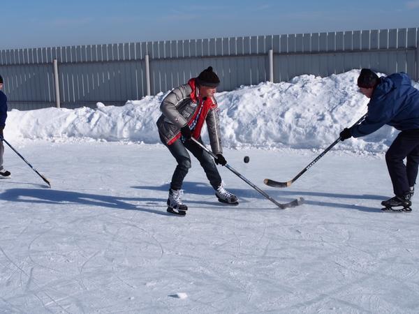 Напряженный хоккейный матч